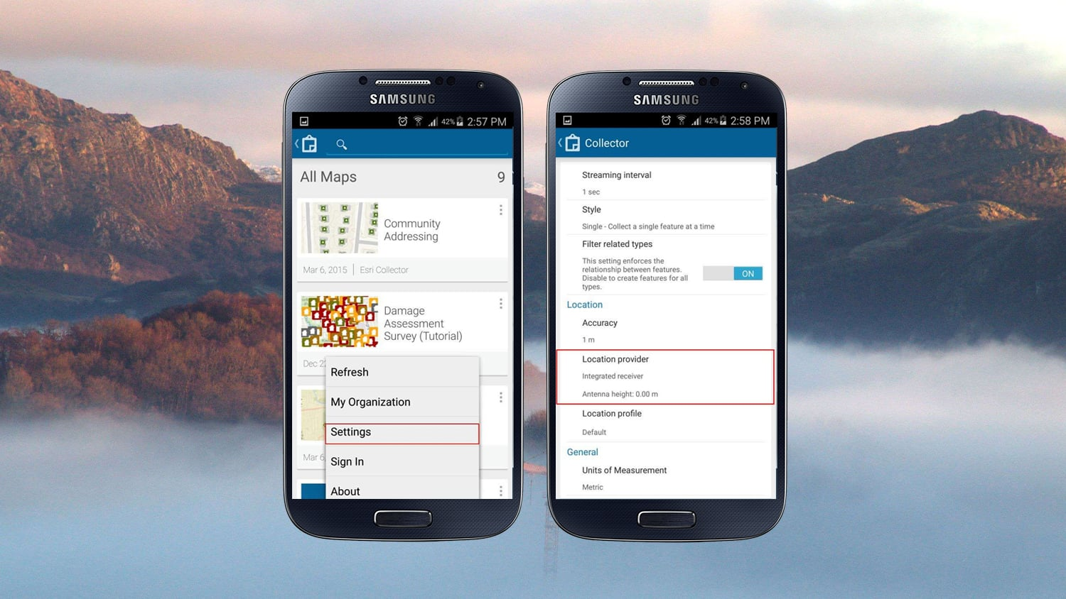 How to Configure Collector for ArcGIS with Arrow Receivers on Android GIS GPS GNSS Esri