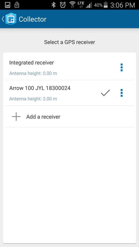How to Configure Collector for ArcGIS with Arrow Receivers on Android