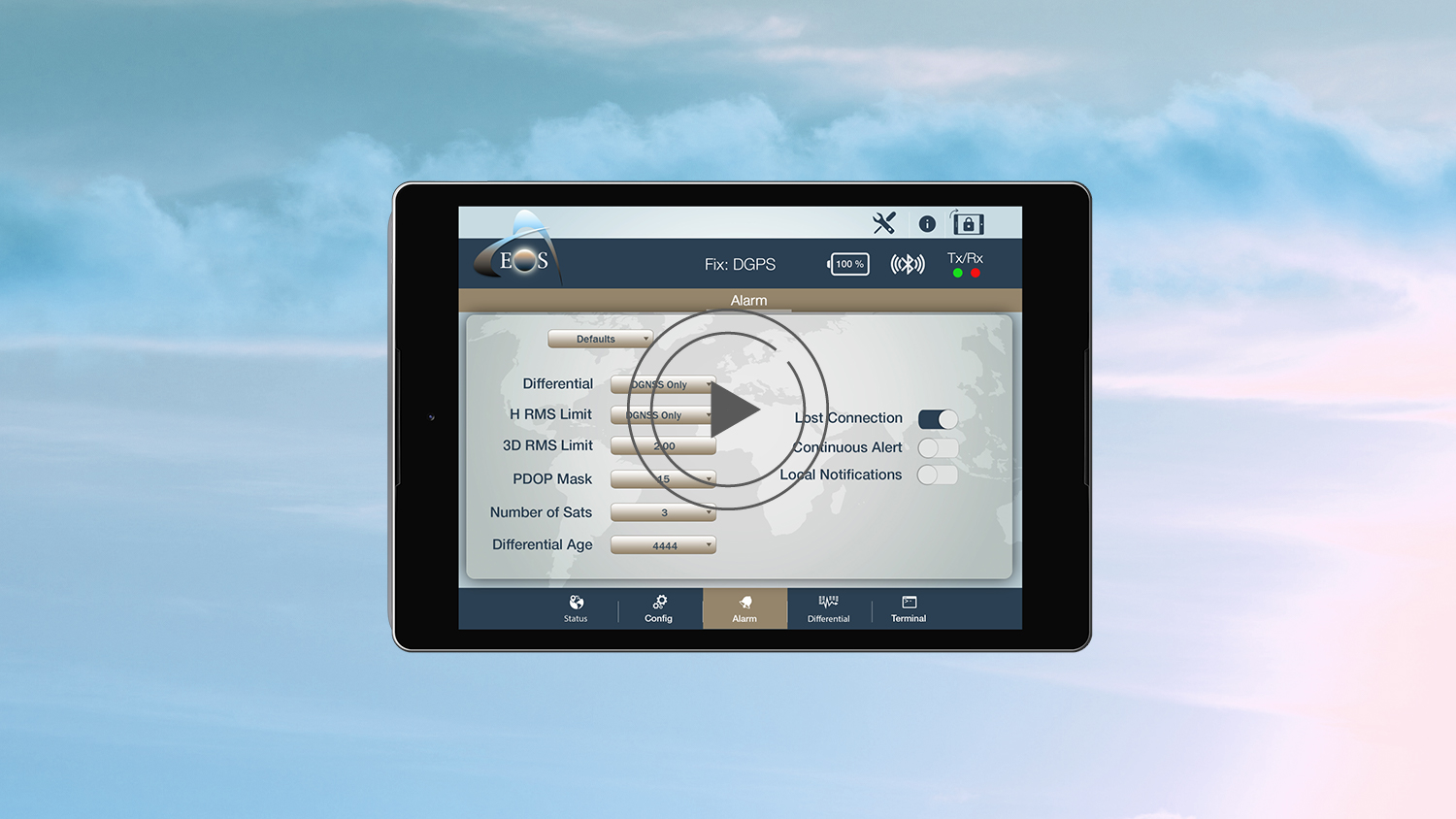 Eos Tools Pro- Video overview for Android app users GPS GNSS GIS alarms RTK