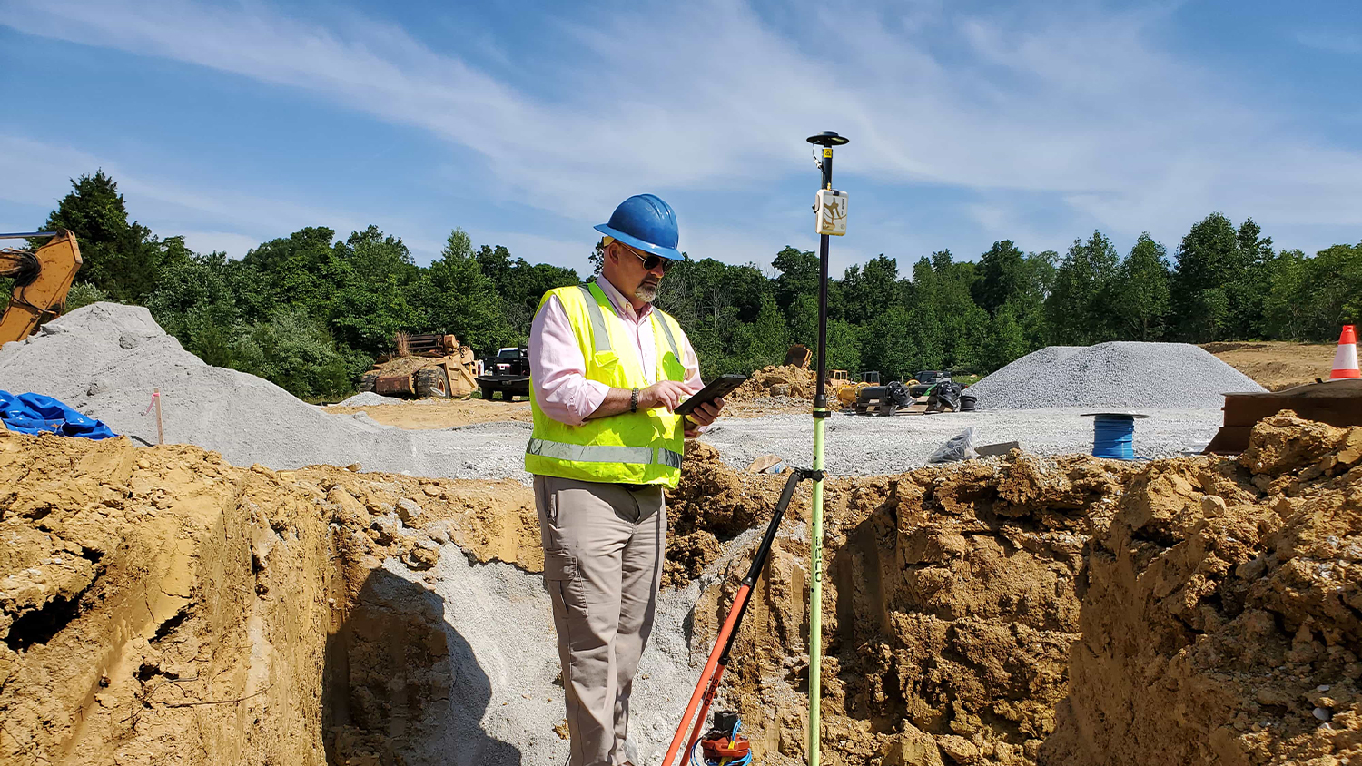 High-Accuracy, Real-Time Data Collection Oldham County Water District OCWD, Kenny Ratliff, utility pipeline mapping water