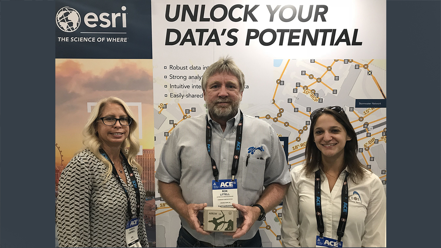 2018 AWWA ACE Giveaway Winner - Ron Littell Community Water System, Esri Eos Giveaway
