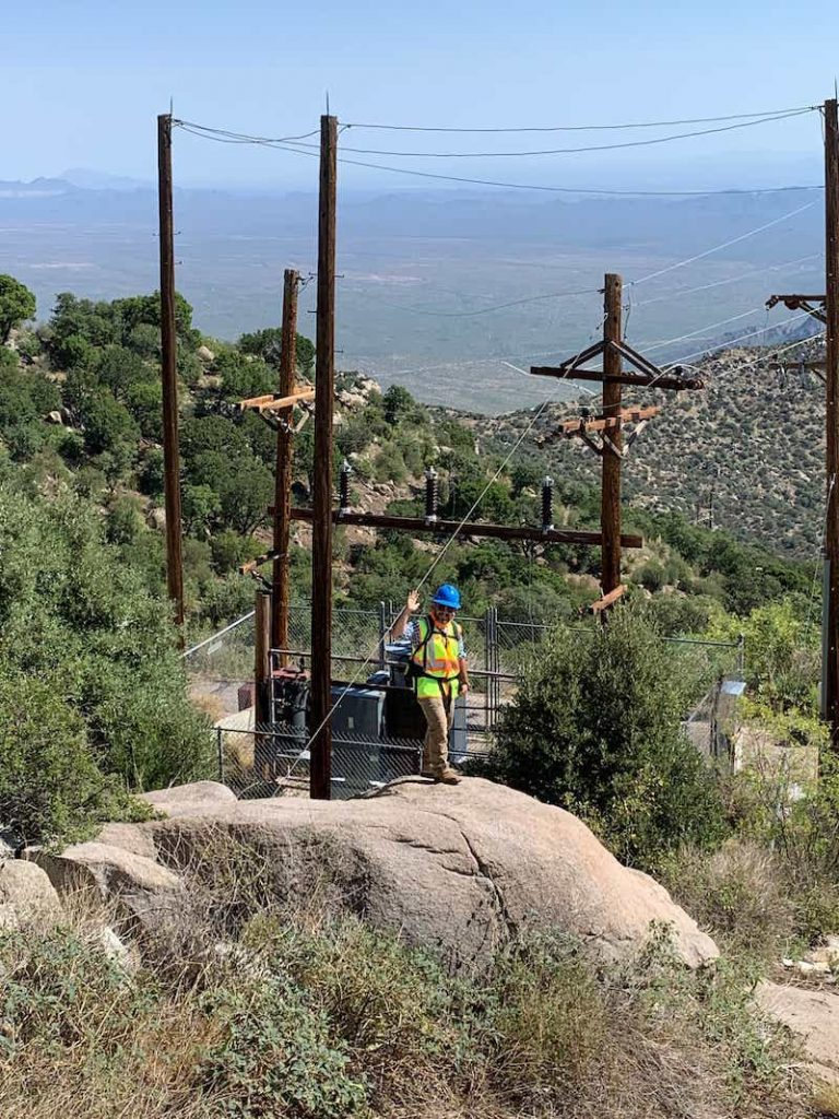 Palmetto Engineering mapping high accuracy points in the desert electric utility mapping transportation poles T&D assets Zac Petix