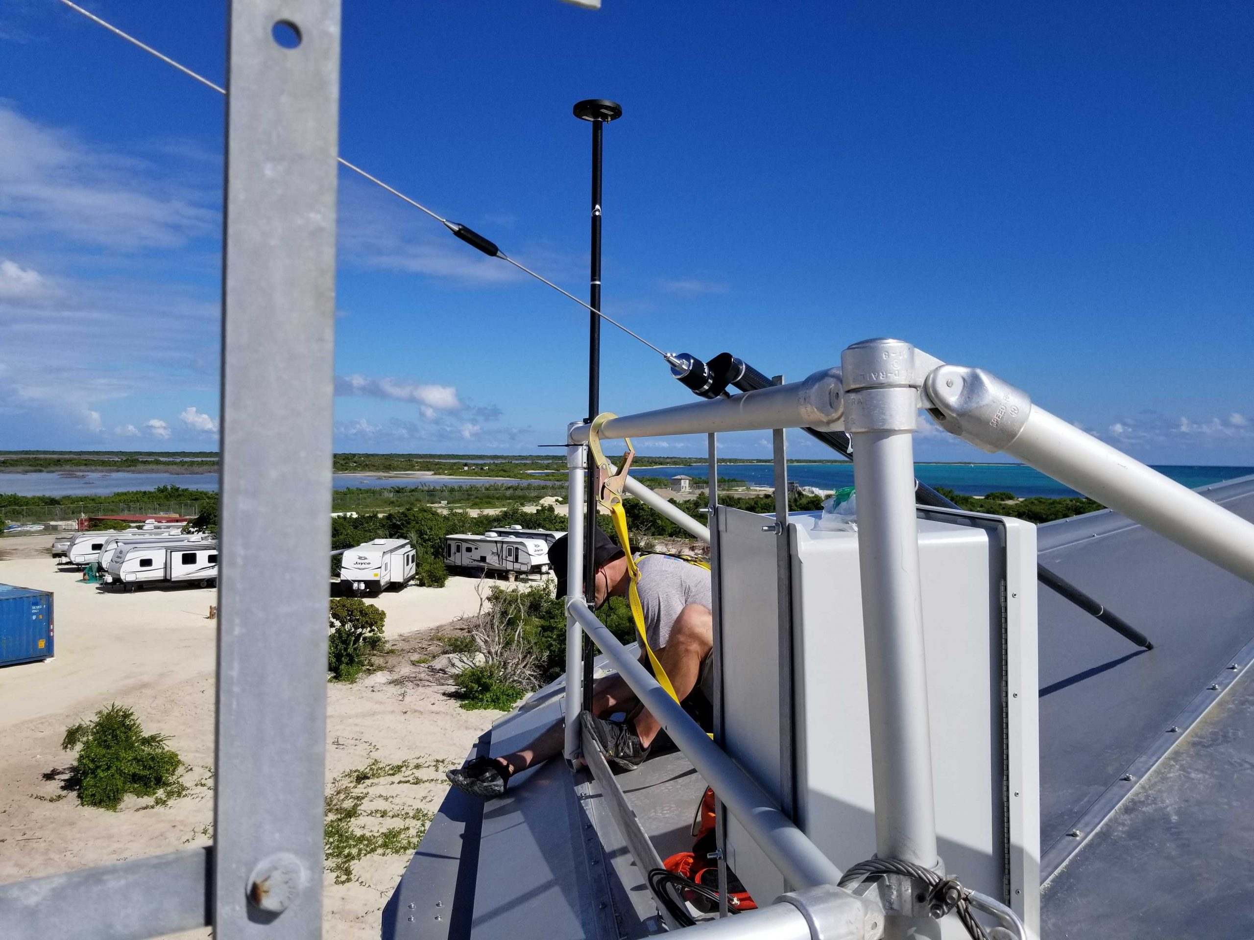 Arrow Gold GNSS receiver: Arrow Gold mobile base station on remote island
