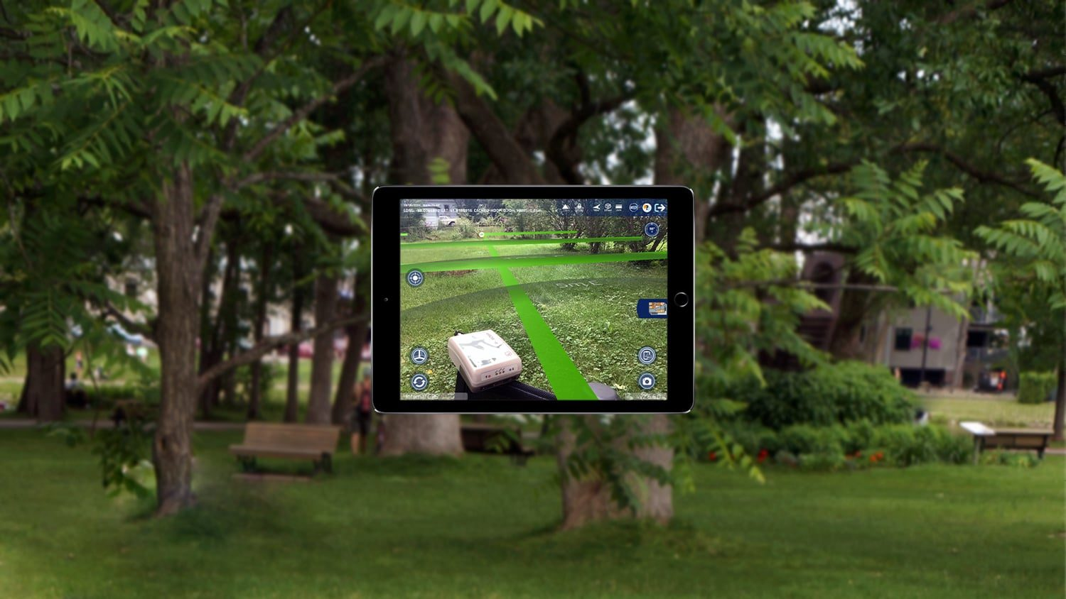 Augmented reality app Argis with Arrow GNSS receiver screenshot