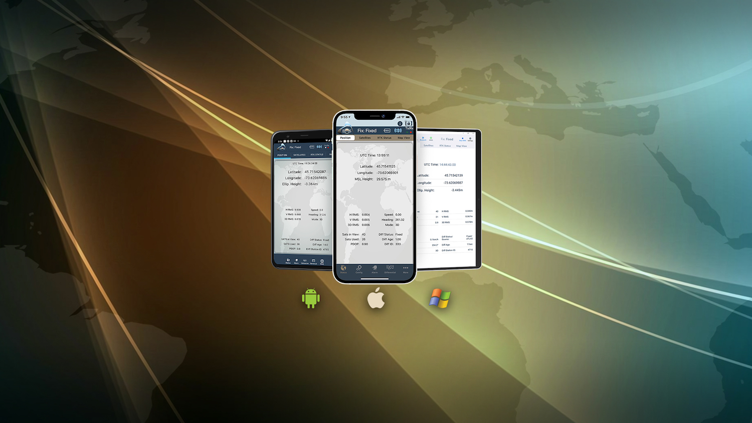 Eos Tools Pro mobile GNSS monitoring app Hero Image: 1500x844