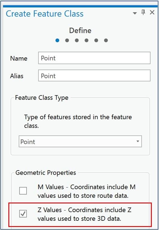 Esri ArcGIS Create feature class enable Z value