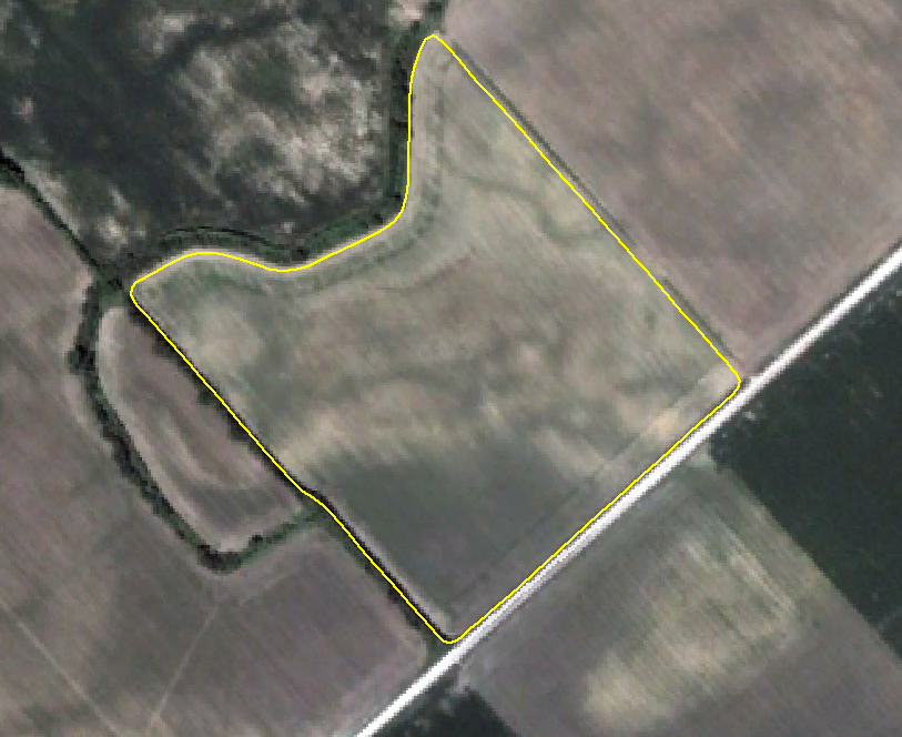 A satellite image is captured of the field.