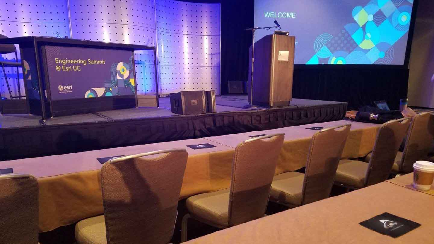 2019 Esri User Conference Socials We Recommend from Eos positioning Systems, a silver sponsor for the 2019 ESRI UC; shown here is last year's engineering summit venue