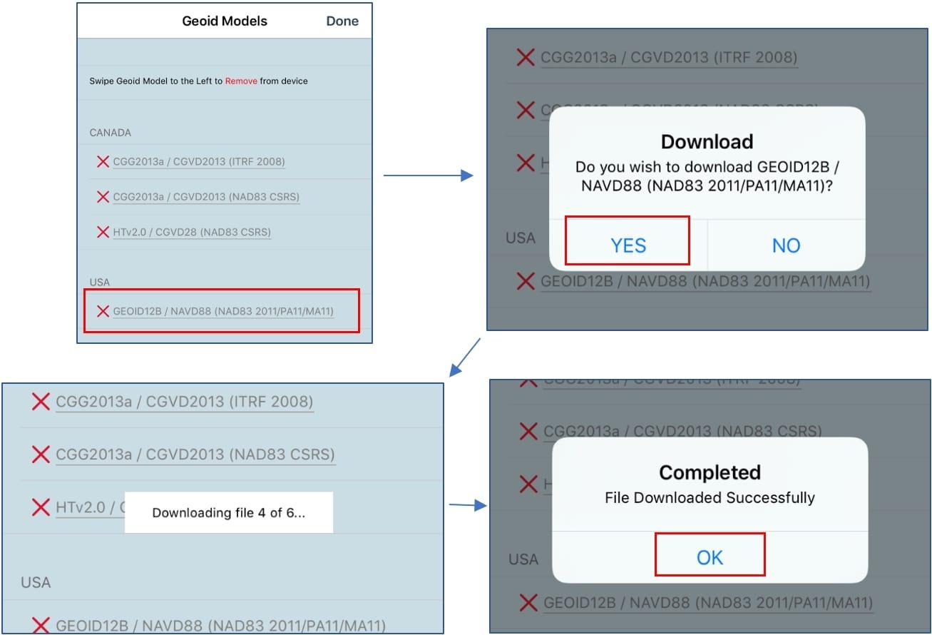 Eos Tools Pro screenshots enable GEOID model