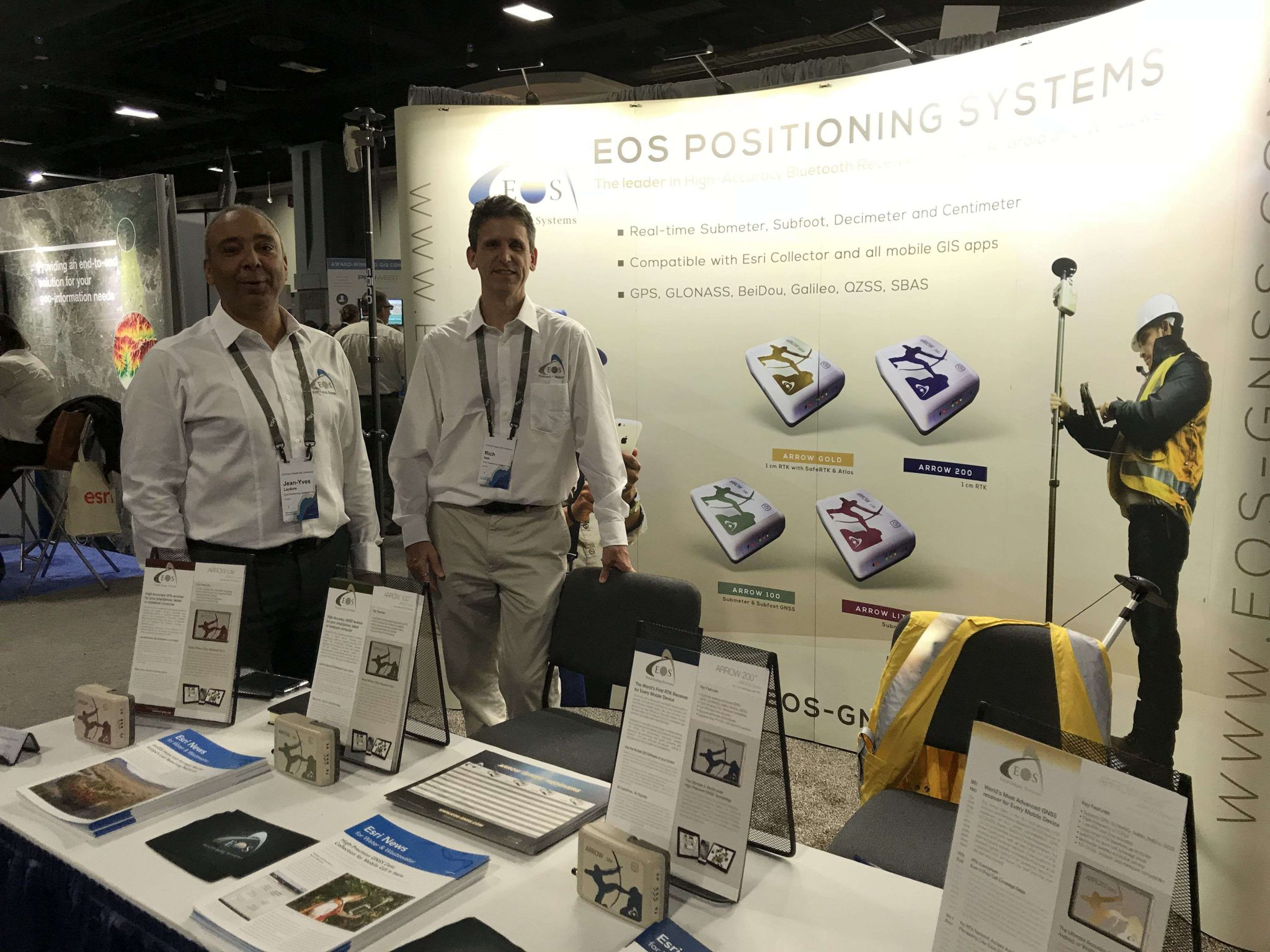 2018 Eos Positioning Systems booth at the GeoConX