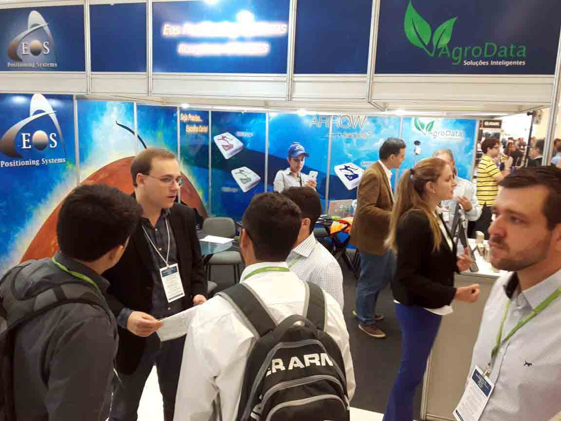 AgroData Eos Positioning Systems booth