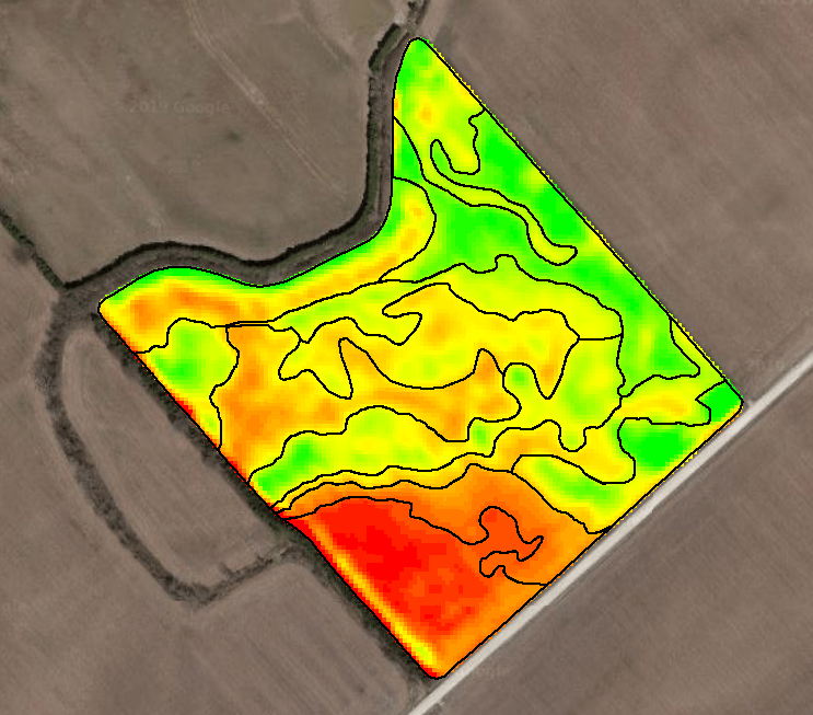 """Experts at Veritas analyze the NDVI maps, identify the similar soils, and create regions in the fields called """"zones."""""""