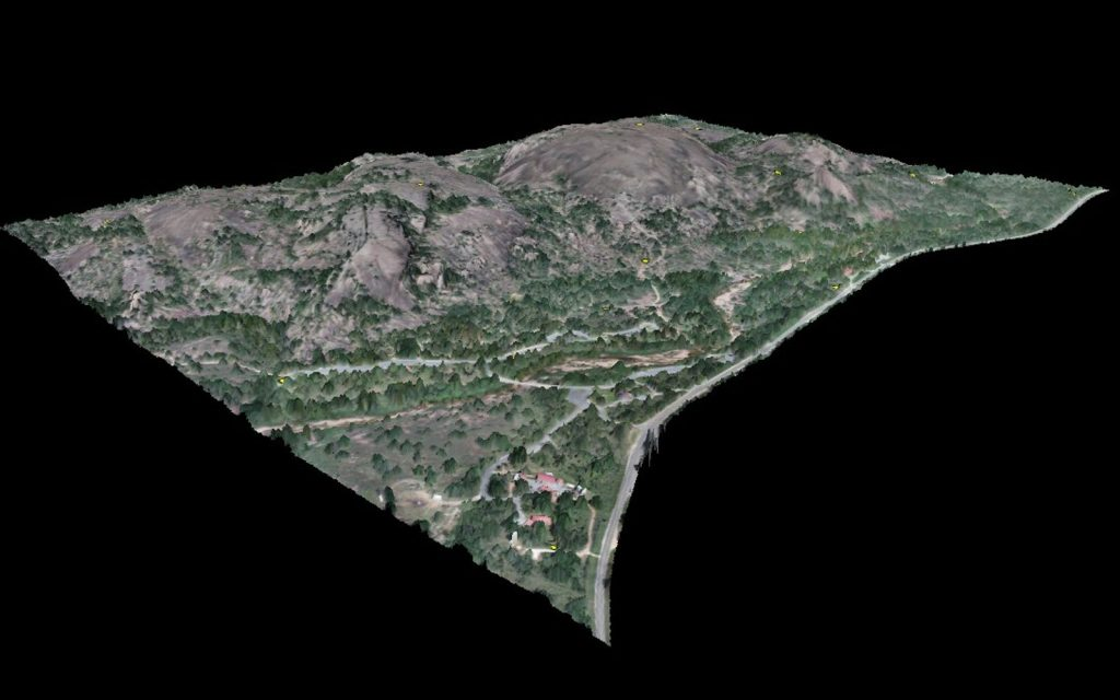 SCREENSHOT - CASE STUDY - RAPTOR AERIAL SERVICES - 3d model of enchanted rock; Texas Drone Consultancy Uses Arrow Gold for Ground Control Points (GCP)