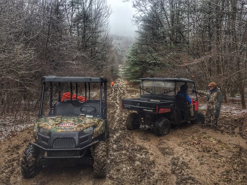 DDS Companies - muddy conditions during mobile work