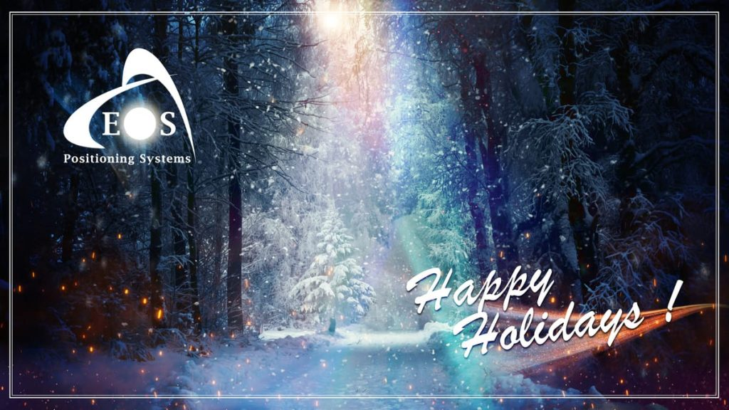 Happy Holidays 2020 from Eos Positioning Systems