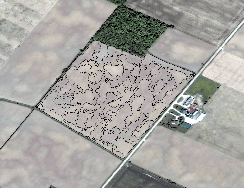 Several options of zone creation complexities are given to clients. The above photos show three options of various complexities created in ArcGIS Pro.