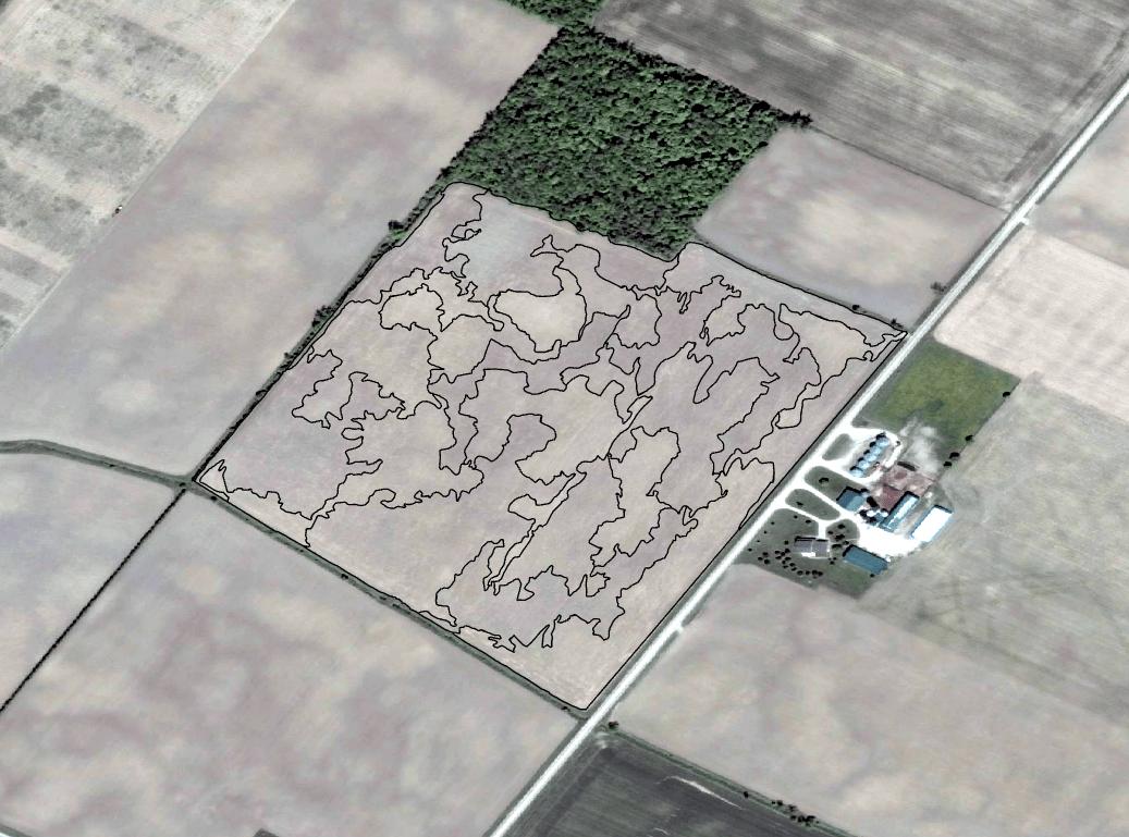 Veritas ArcGIS soil sampling map