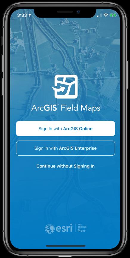 ArcGIS Field Maps - iOS splash screen