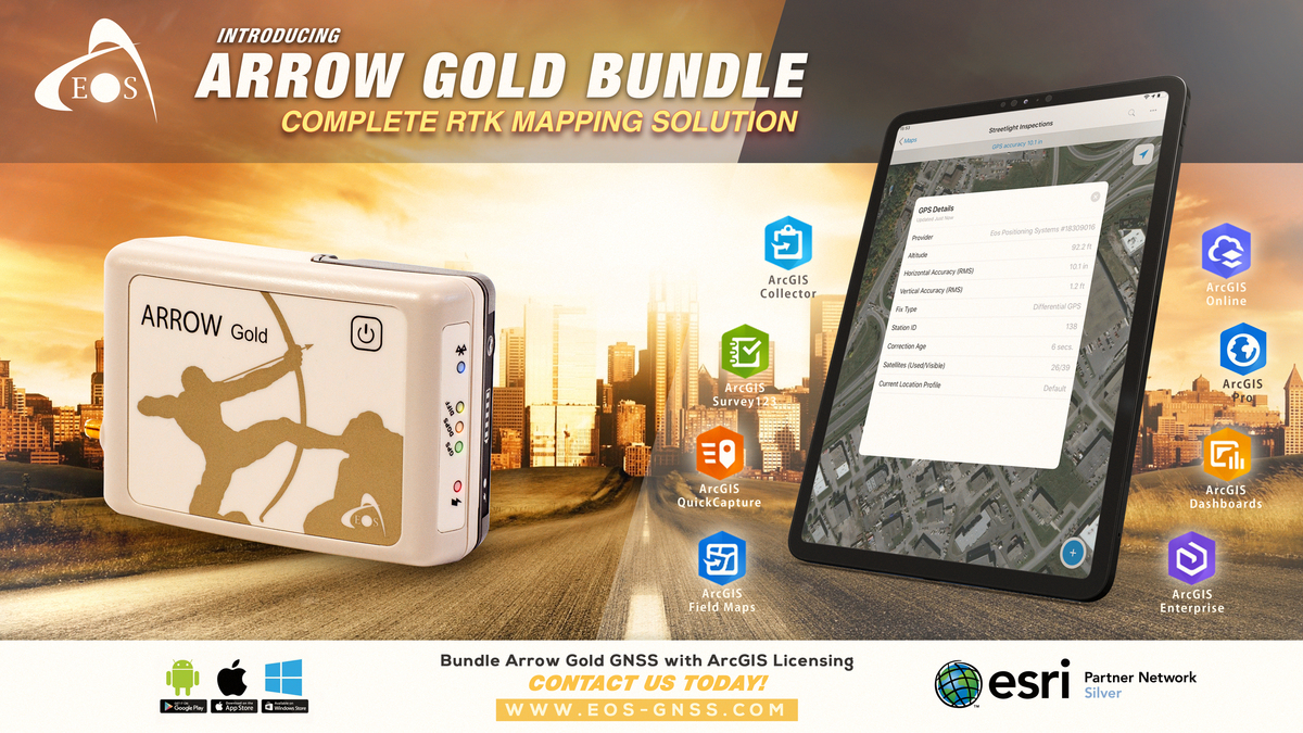 Arrow Gold bundle with Arrow GNSS and Esri ArcGIS Software