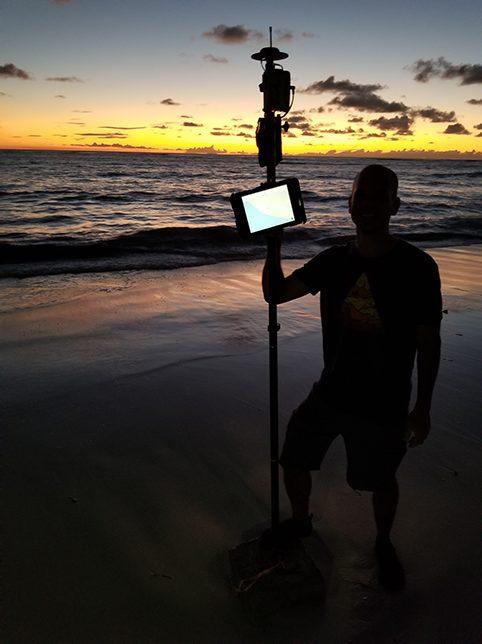 Customer Spotlight Chris Kahn 16 - Survey Monument at Sea Level at Sunset 2