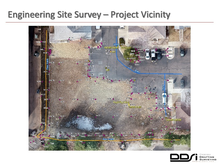Engineering site survey project vicinity - DDSI laser mapping