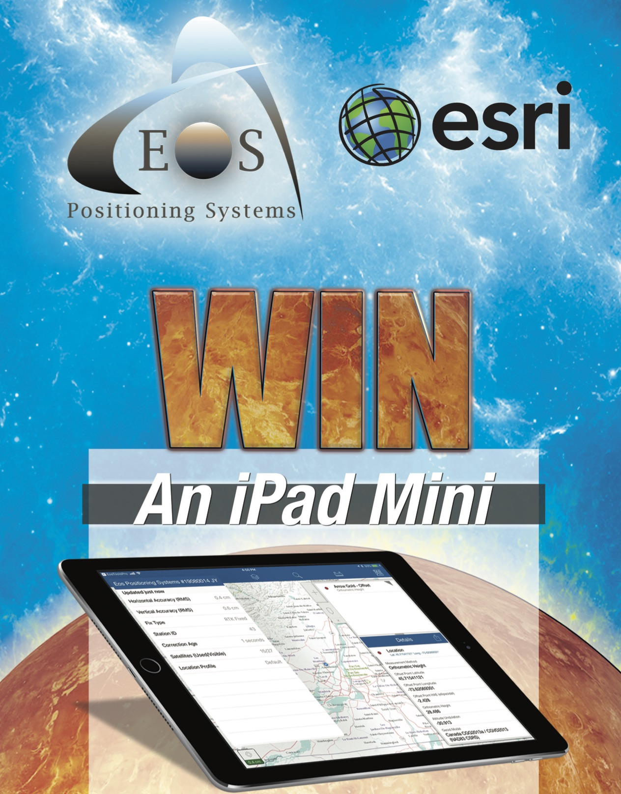 Win an iPad from Eos Positioning Systems