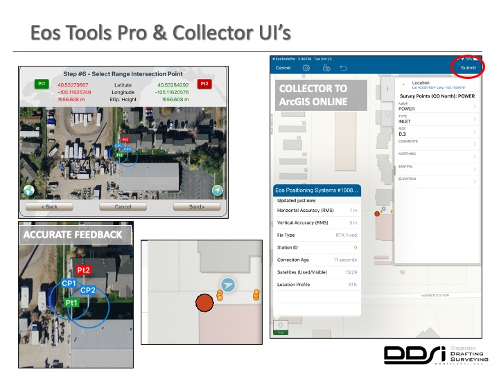 Eos Tools Pro and Collector UIs - DDSI laser mapping