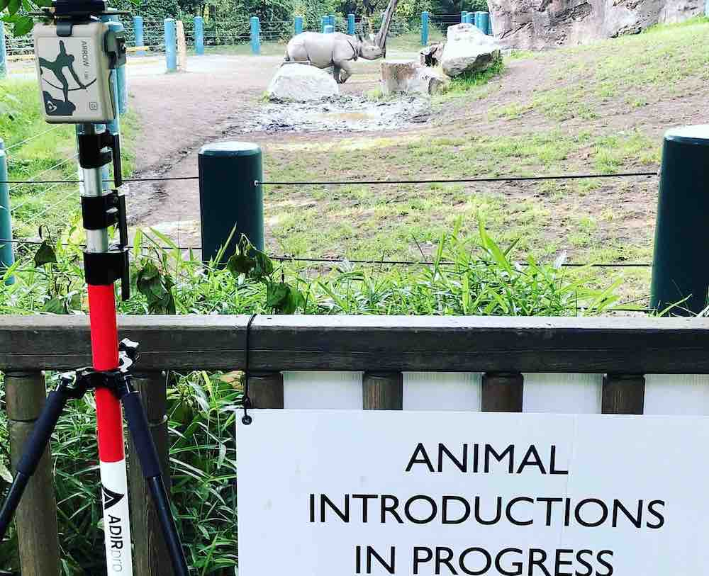 Image - Laser Mapping with Collector for ArcGIS helps Woodland Park Zoo map assets in animal exhibit areas like this one