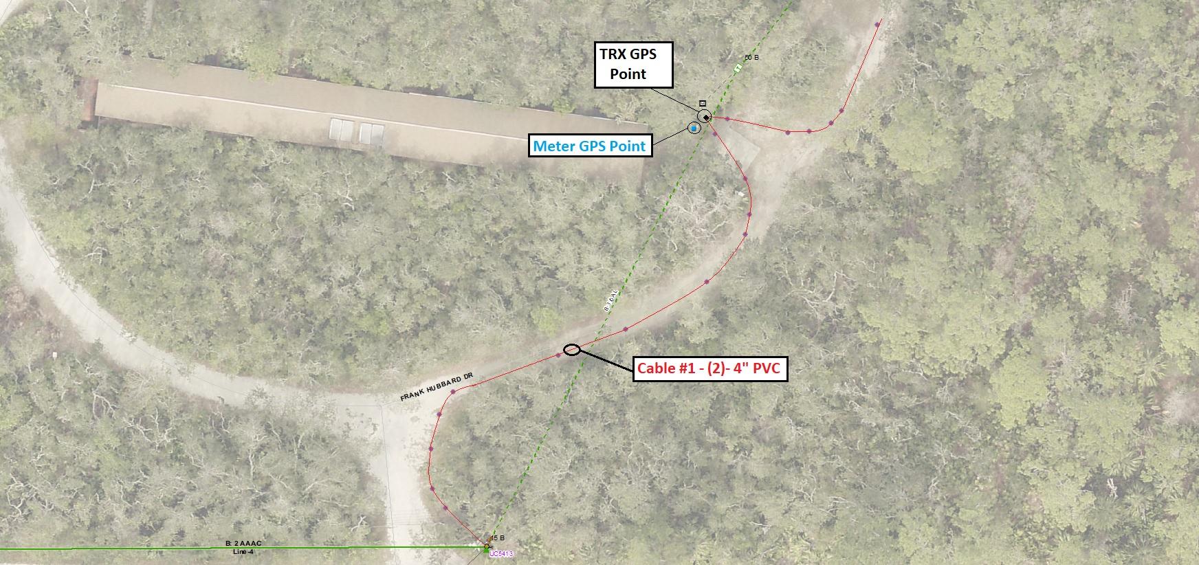 GPS Pole Capture Close Up New Smyrna Beach Utilities Commission Florida Frank Hubbard GIS vs CAD