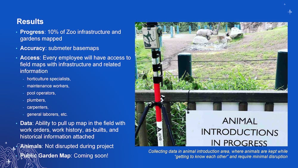 Woodland Park Zoo laser mapping project - Dan Block slide