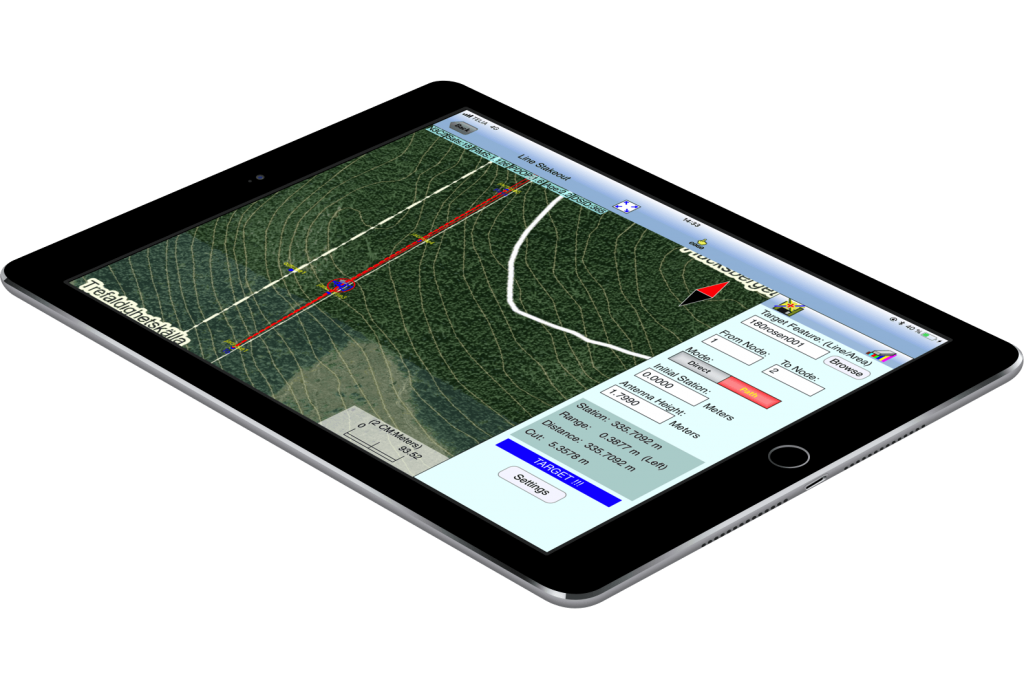 If the surveyor stays within one meter of the actual boundary, iCMTGIS PRO will beep. This provides a constant auditory cue that the surveyor is on the right path, so he doesn't have to keep looking at the iPad all the time. Bergstedt considers this a major time-saving function.