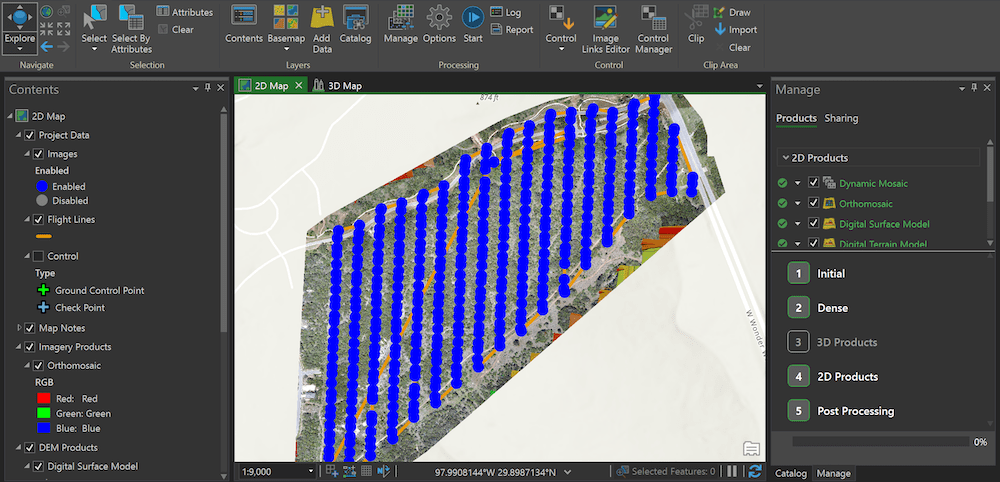 La Cima ArcGIS Drone2Map Data captured by drone is processed in Esri's ArcGIS Drone2Map software.