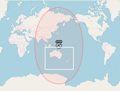 Map - Australian SBAS - DFMC