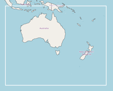 SBAS map for SouthPAN in Australia New Zealand