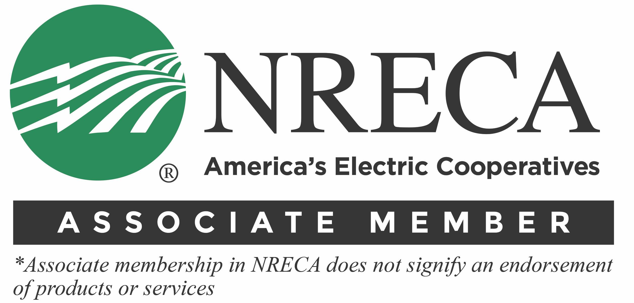 Eos is a proud associate member of the NRECA National Rural Electric Cooperative Association; NRECA logo shown here