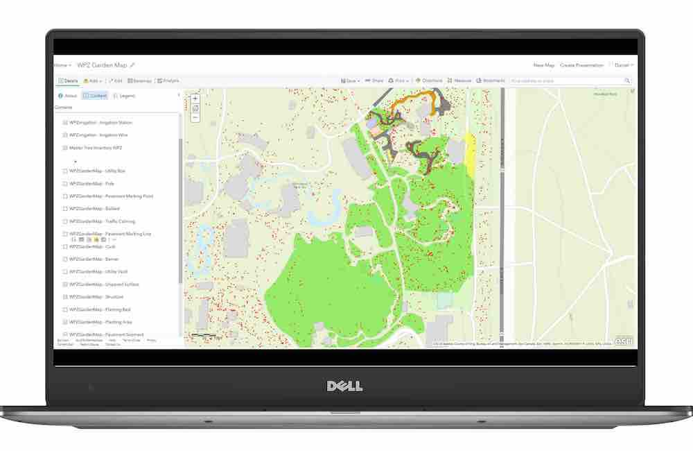 SCREENSHOT - CASE STUDY - WOODLAND PARK ZOO - COLLECTOR FOR ARCGIS ONLINE WPZmapCAPTURE_dell-xps13-front