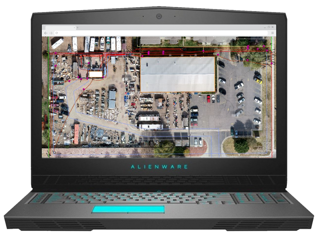 SCREENSHOT-SUCCESS-STORY-DDSI-LASER-MAPPING-ArcGIS-undergrounnd-utility-locates-at-a-telecommunnications-site-327268_Screenshots-Alienware3_112718.png