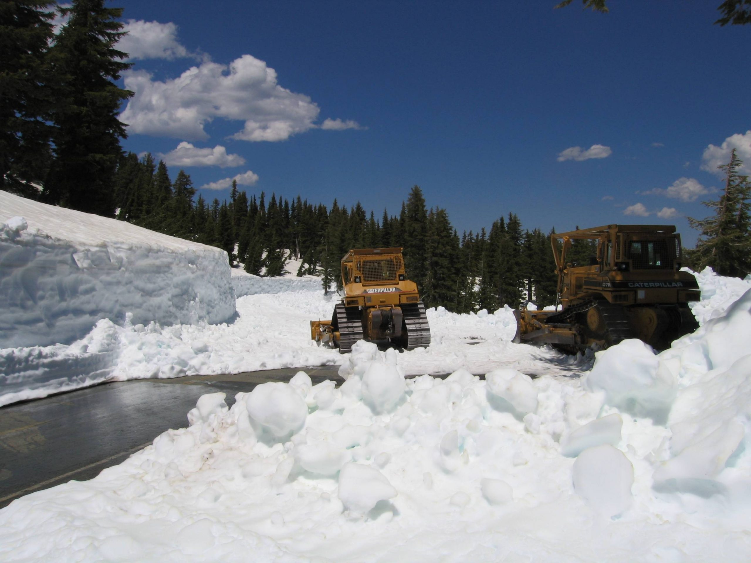 This picture was taken near the Terrace Lake Trailhead. The snow depth on the road at this location was 12 feet or more.