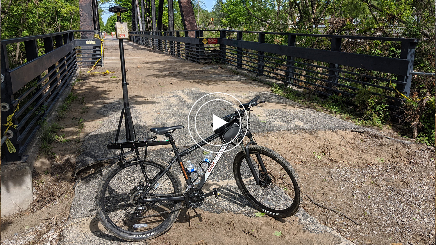 Flooding Midland County Video Case Study Feature Image, OHM Advisors, smart bike, GPS GNSS damage mapping