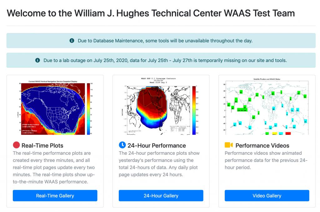WAAS Test Team website