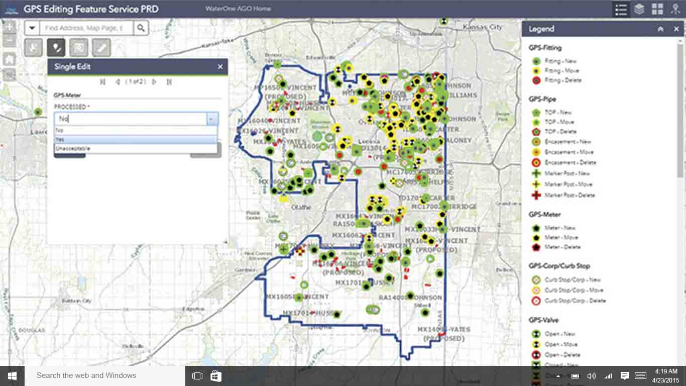 WaterOne case study on ArcPad with Arrow 200 GNSS receivers