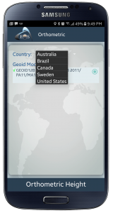 SCREENSHOT – PRESS RELEASE – Australian geoid models - android_galaxys4_black_portrait in Eos Tools Pro