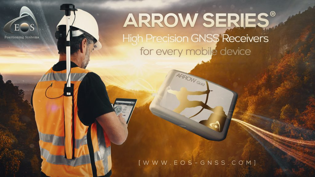 Arrow Series GNSS receiver Directions Magazine ad