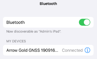 iPad TCP IP Multiple Apps Concurrently with Arrow - Closeup 1 Bluetooth