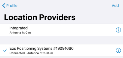 iPad TCP IP Multiple Apps Concurrently with Arrow - Closeup 2 - Location Providers