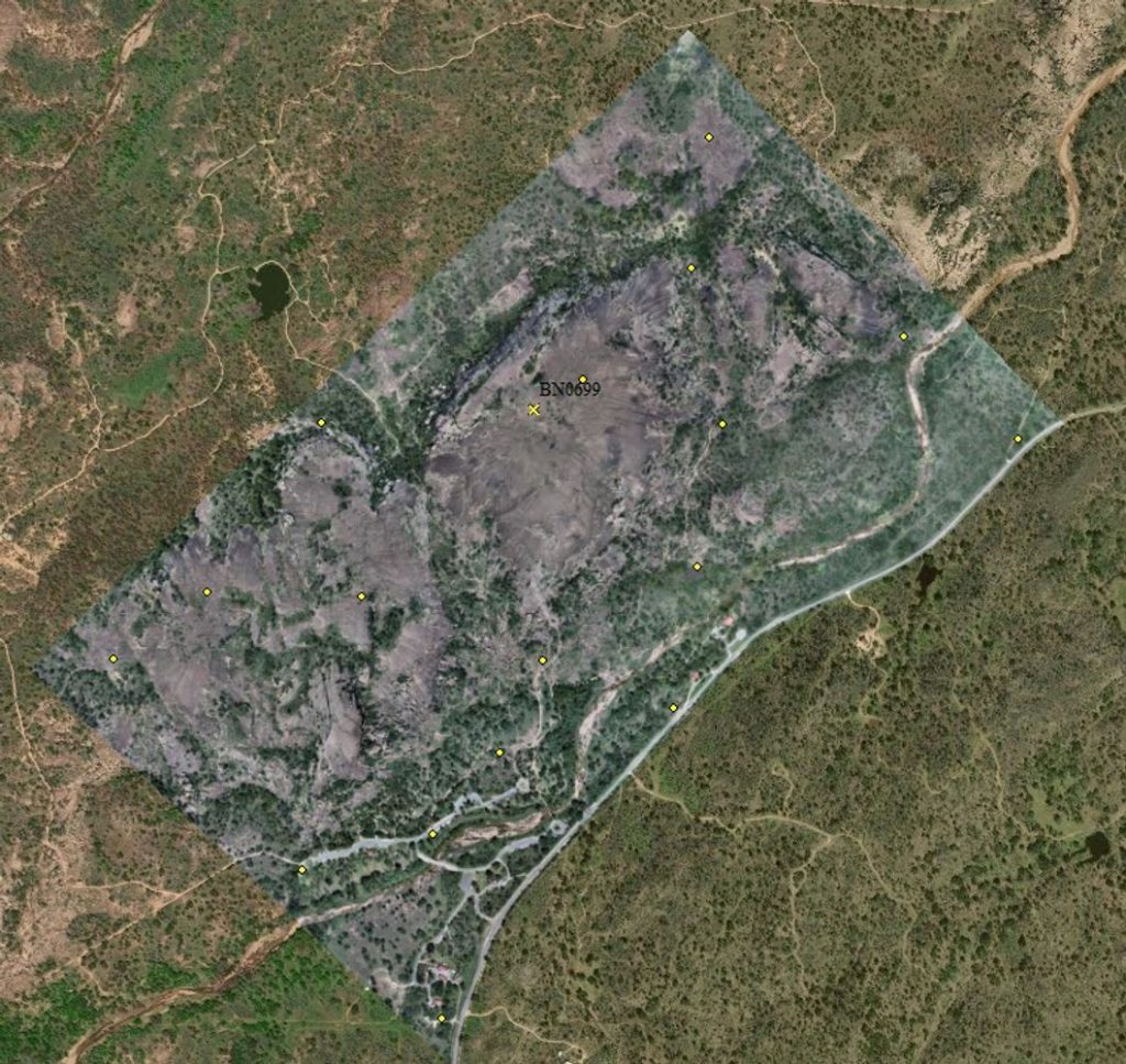 FIELD PHOTO - CASE STUDY - EOS TOOLS PRO - RAPTOR AERIAL SERVICES - ENCHANTED ROCK STATE NATURAL orthophoto of 750 acre enchanted rock sna; Texas Drone Consultancy Uses Arrow Gold for Ground Control Points (GCP)