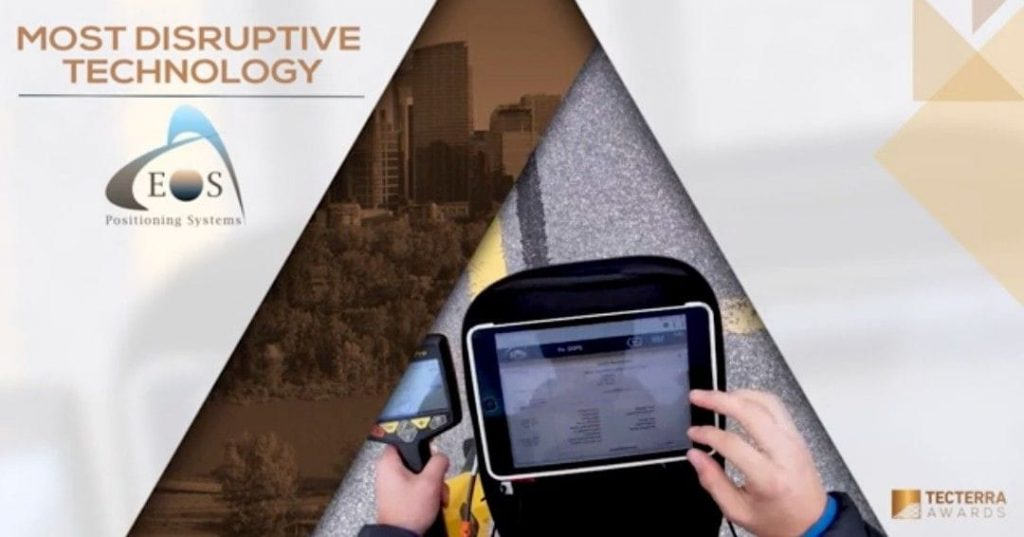 Tecterra Most Disruptive Technology Award 2020 Eos Positioning Systems