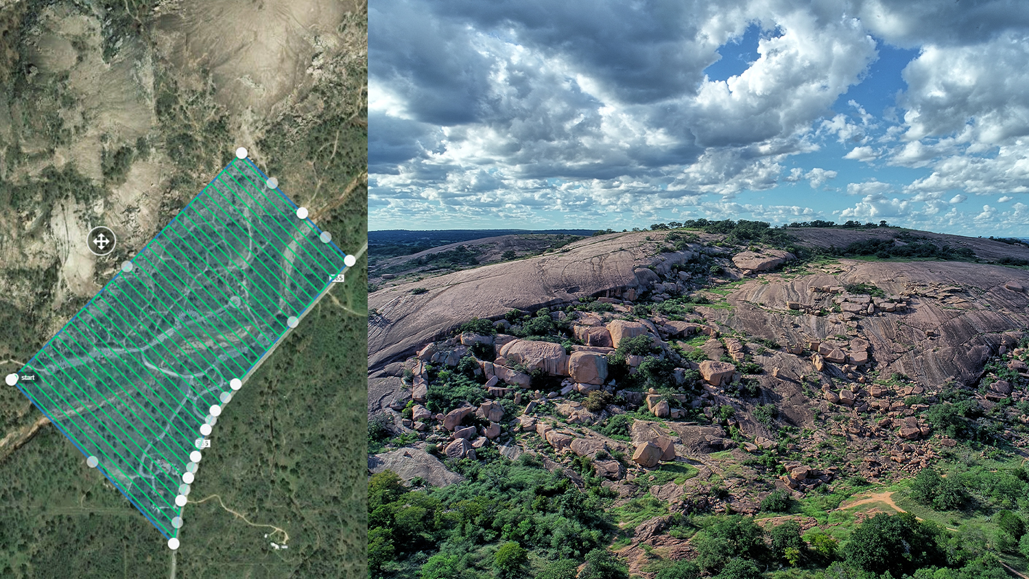 FIELD PHOTO - CASE STUDY - RAPTOR AERIAL SERVICES - Setting Ground Control Points (GCP); Texas Drone Consultancy Uses Arrow Gold for Ground Control Points (GCP)