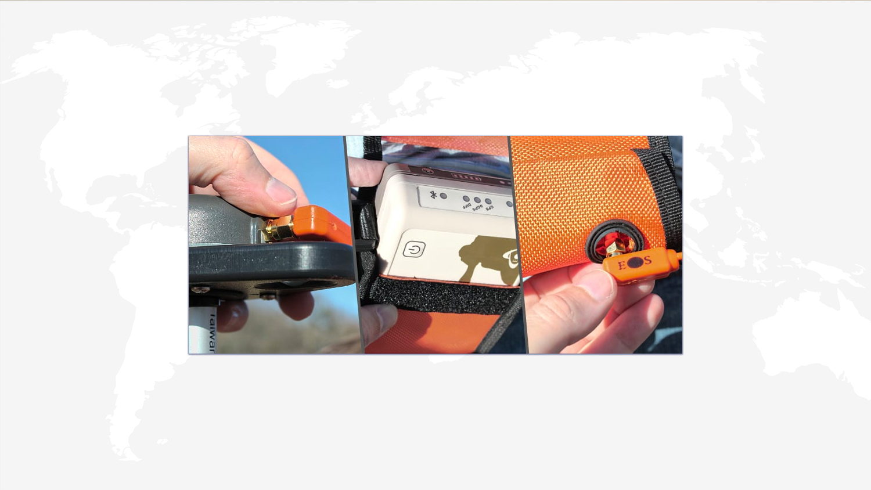 Mount & Antenna - Vest & Pole GPS GNSS GIS Eos Arrow receiver