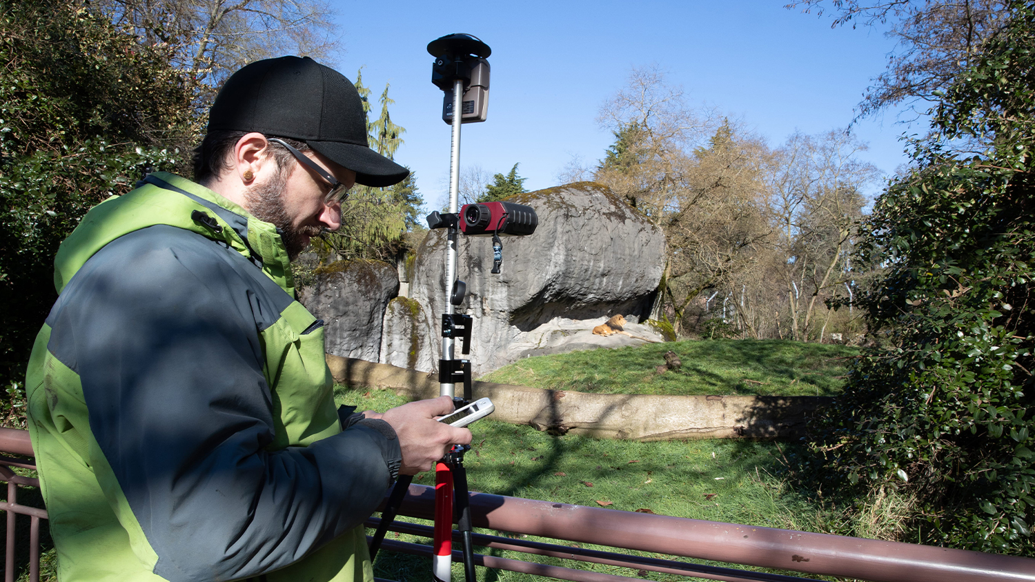 Dann Block maps zoo assets safely from afar using Arrow 100 GNSS and Eos laser mapping for ArcGIS Collector on iOS